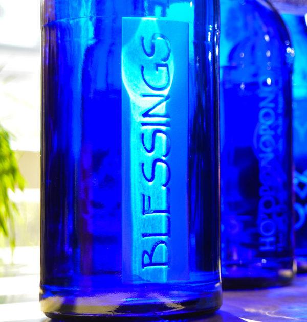 Blue Bottle Love Blessings