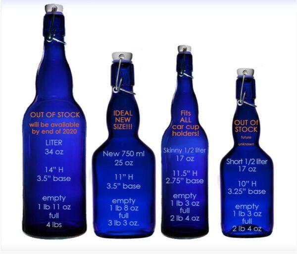 Blue Bottle Love sizes