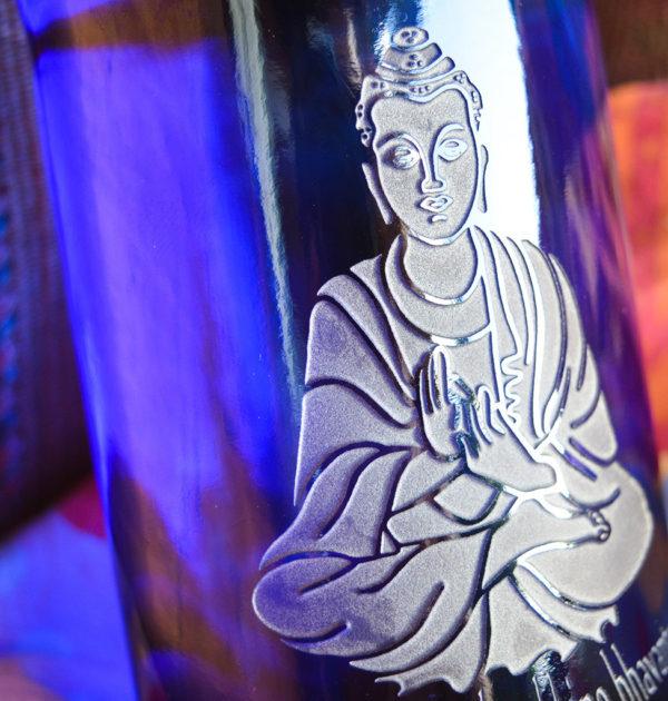 Blue Bottle Love Buddha