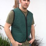 Cool Vests – REFLECTIVE Unisex Cooling Vest Large Green. BIG SALE.